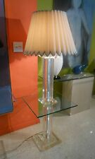 Mid Century Modern Lucite & Glass Floor Table Lamp AMAZING QUALITY/Gorgeous!