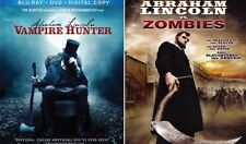 ABRAHAM LINCOLN; VAMPIRE HUNTER+VS ZOMBIES-Mary Elizabeth Winstead-NEW 2 BLU-RAY