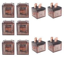 Lot10 Car 12V 80A 80 AMP Transparent SPST Relay 4Pin 4P Relays New