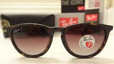 Ray Ban RB4171 Erika Authentic Polarized 865/13 54mm Matte Tortoise Havana New