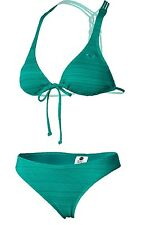 NEW Roxy Naturally Beautiful 70s Bikini Swim Set Dynasty Green Medium