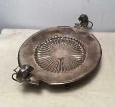 Gorham Antique Aesthetic Sterling Silver Applied Mouse Mice Tazza Dish