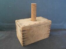 Antique Hand Made Wooden Rectangular Butter Mold