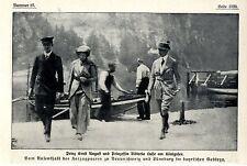 Herzogenpaar Prinz Ernst August und Prinzessin Viktoria Luise am Königssee 1913
