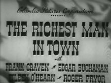 THE RICHEST MAN IN TOWN (1941) DVD FRANK CRAVEN, EDGAR BUCHANAN