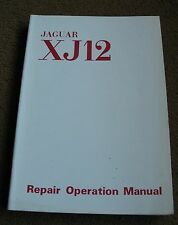 original JAGUAR XJ 12  WORKSHOP MANUAL 1972 excellent c d e type PARTS
