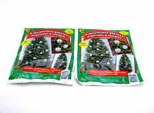 2 PACKS GIANT SILVER STUFF-AN-ORNAMENTS OUTDOOR CHRISTMAS TREE DECORATIONS 22""
