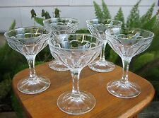 Set of (5) Heisey Colonial 12 Panel Champagne/Sherbets with Etching