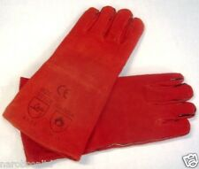 GL1 RED LEATHER GAUNTLETS,FOR BLAST CLEANING, WELDING, SODA BLASTING CE MARKED