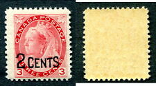 MNH Canada 2c on 3c Queen Victoria Overprinted Numeral Stamp #88 (Lot #6261)