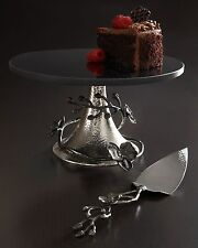 """M. Aram Black Orchid""""Black Orchid"""" Cake Stand"""