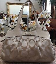 Coach Lexi Sig. Jacquard Leather Ivory Trim Satchel Shoulder Bag F18828 Ret.$398