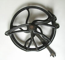 Vintage Treadle Sewing Machine Cast Iron Fly Wheel Belt Guar Parts Steampunk
