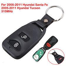 2+1 Button Remote Control 315mhz Key Fob Flip For Hyundai Santa Fe Keyless Entry