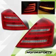 [Red LED] 2007-2009 Mercedes Benz W221 S-Class S550 S600 Chrome Tail Lights Pair