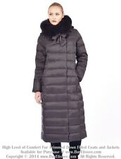 ~ Long Down Coat Jacket Parka Пуховик w/ Fox Fur sz XL / US 12 / EU 44 *$895 NWT