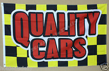 QUALITY CARS flag 3'x5' banner BRING ATTENTION TO YOUR USED OR NEW CAR LOT