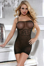 Sexy lingerie - Body stocking & cat suit (black)