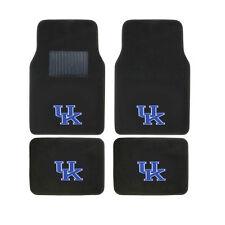 New 4pcs NCAA Kentucky Wildcats Car Truck Front Rear Carpet Floor Mats Set