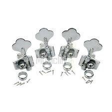 Chrome 2R2L Bass Open Gear String Tuners Tuning Pegs Keys Machine Heads Set