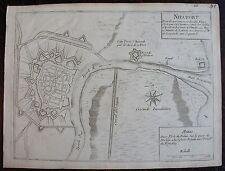 PLAN DE NIEUPORT : gravure originale A Paris, chez de FER. (1693).