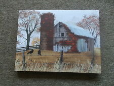 The Old  Barn Fall Leaves Canvas Print  by Billy Jacobs 12 x 16""