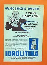 C585-Advertising Pubblicità-1959 - IDROLITINA ACQUA DA TAVOLA GRANDE CONCORSO