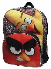 "Angry Birds 16"" Backpack by Rovio Video Games & Movies $30 Retail - New w/Tags!"
