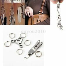 Utility Suspension Clip Hat Buckle Set Keychain EDC Tools Mini Key RingS Outdoor