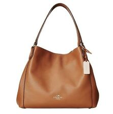 COACH Edie Shoulder Bag 31 In Refined Pebble Leather Saddle Tan 36464 NWT