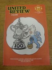 03/01/1981 Manchester United v Brighton And Hove Albion [FA Cup] (Light Crease).