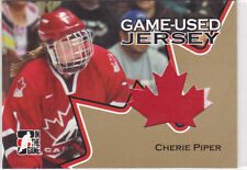 2006 06-07 ITG Going For Gold Jerseys #GUJ16 Cherie Piper Team Canada