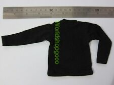 "1/6 Scale Tee Hot Black Long Sleeves T-Shirt For 12"" Action Figure Toys"