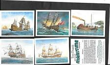 PLAYER'S  / TOM THUMB - BRITAIN'S MARITIME HISTORY - 1989 - FULL SET IN SLEEVES