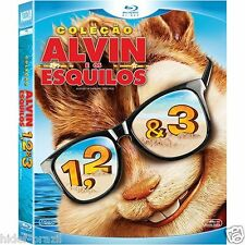 Blu-ray Trilogy Alvin and the Chipmunks [English+Portuguese+Others] Region ALL