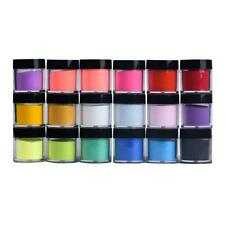 18 Colori Acrilico Nail Art Tips Gel UV Polvere Design Decorazione 3D Manicure