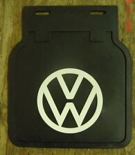 VW Split bay Bus mud flaps with brackets black flap with white logo thru 1971 pr