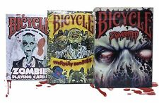 Lot of 3 Bicycle Playing Cards Zombified, Everyday Zombies & Zombie Decks New