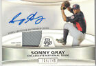 SONNY GRAY 2010 Bowman Auto Ball Baseball Jersey Rookie Signed Refractor 704/740