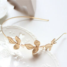 Gold Metal Three Leaves Hairband Wedding Hair Accessories For Girl Women