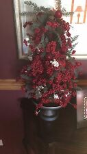 """Country Christmas Holiday Decor Red Berry Apple Tree 23"""" Stand Gorgeous!!"""