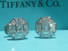 TIFFANY & CO. MOSAIC 1.17 TCW DIAMOND PLATINUM EARRINGS NEW IN BOX PAPERWORK