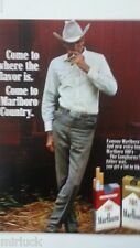 1968 Marlboro Red Gold 100s Skinny Cowboy Hat Smoking Red Barn Original Ad