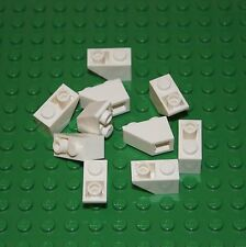LEGO: Pack of 10 White Slope Brick Inverted 45% 1 X 2  ( 3665 ). NEW.