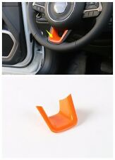 ABS Steering wheel decorative trim cover for Jeep Renegade 2015-2016 -Orange