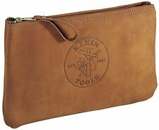 Klein Tools 5139L 12-1/2-Inch Top-Grain Leather Zipper Bag