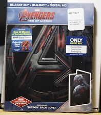 NEW AVENGERS AGE OF ULTRON 3D BLU-RAY-HD ULTRAVIOLET STEELBOOK! ULTRON PLZ READ