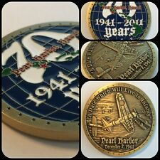 "Pearl Harbor, Hawaii 70th Anniversary ""a date..in Infamy"" Challenge Coin 2"""