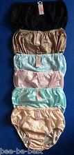 6 pcs. EL Big Vintage Ladies Panties Granny Briefs, Hi-Cut Solid Nylon Underwear