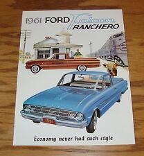 1961 Ford Truck Falcon Ranchero Sales Brochure 61